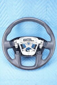 Nissan Titan Platinum Steering Wheel Black Leather w/Wood Insert 18 OEM