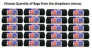 Heavy Duty Black Bin Liners/Sacks!! | Rubbish/Thick/Bags/Refuse/Strong/British