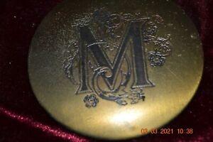 """Victorian Purse Hand Mirror Monogrammed """"M"""" (#81)"""