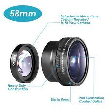 Neewer 58mm 0.21x Fish-eye Lens for Canon Nikon Sony Pentax Olympus DSLR Camera