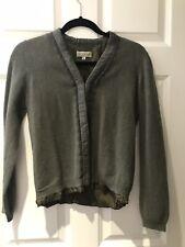 JIGSAW Olive Green Cardigan Jacket Lace Silk Wool Medium