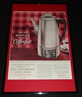 1955 Hoover Coffee Pot Framed 11x17 ORIGINAL Advertising Display