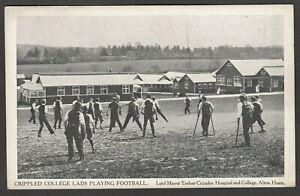 Postcard Alton Hampshire college playing football Lord Mayor Treloar Hospital