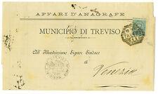 Italy Folded Sheet Treviso To Venezia  Sassone 56  1891 Please Read Description