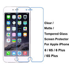 New Tempered Glass/Clear/Matte Film Screen Protector For Apple iPhone 6 6S Plus