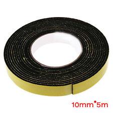 5M Single Sided Self Adhesive Foam Tape Sponge Rubber Strip Door Seal 1pc Black