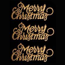 """Decoración de Navidad de 3 Paquete de brillo """"Feliz Navidad"""" signos-Oro"""