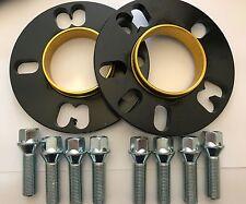 2 X 5mm BIMECC BLACK HUB SPACERS + 8 X M12x1.25 SILVER BOLTS FITS PEUGEOT 1 65.1