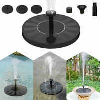 Solar Powered Fountain Water Pump Floating Garden Pond Pool Fish Tank Bird Bath