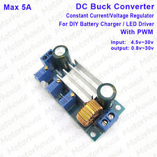 5A DC-DC Buck Converter Constant Current 12v 24v Adjustable Battery Charger PWM