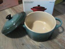 """New listing Le Creuset 8 Oz Petite Round Casserole 4"""" Mini Cocotte Ocean Color Baking Dish"""