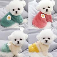 Pet Dog Sweater Warm Fleece Vest Clothes Coat Puppy Dog Cat Shirt Winter Apparel
