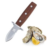 BIGSUNNY Stainless Steel Shellfish Knife Oyster Shucker with Rosewood Holder