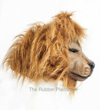 Lion Mask Latex Overhead Fancy Dress Halloween Costume Tiger Animal Jungle