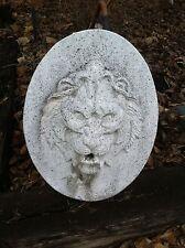 Vintage Cement Lion Head Statute pond Fountain Garden Art