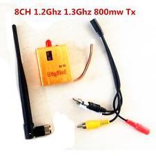 800mW Video Transmitter AV Audio & Video Transmission System Sender 8CH 1.2GHz