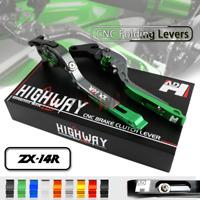 Adjust Folding Brake Clutch Levers for Fit KAWASAKI ZX1400 ZX14R ZZR1400 06-17