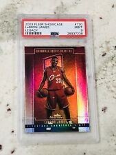 2003 Fleer Showcase Legacy Collection LeBron James ROOKIE RC /125 PSA 9 RARE