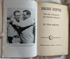 Vintage 1951 Babe Ruth Hardcover Book by Tom Meany - Very Good Condition