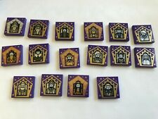 Lego-Harry Potter-Wizard Card Tiles-Complete Set-16 Of 16