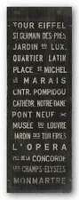 Paris Luke Stockdale Travel Art Print 36x12