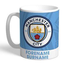 Personalised MANCHESTER CITY Bold Crest Mug Gift Football Club FC Man Fan