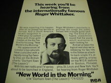 The Internationally Famous Roger Whittaker .this week 1970 Promo Poster Ad