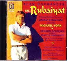 ALAN HOVHANESS & MICHAEL YORK CD The Rubaiyat - Delos DE-3168