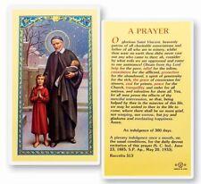 PRAYER TO SAINT VINCENT DE PAUL HOLY CARD
