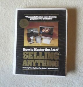 Tom Hopkins How to Master the Art of Selling Anything 24 side tape set w/ book