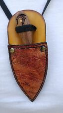 Custom Hand made Patch knife Buck Skinner hunting Neck Boot Knife gator sheath
