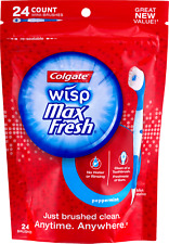 Colgate Wisp Peppermint 24 Count Brushes Toothbrush to Go Pocket Travel