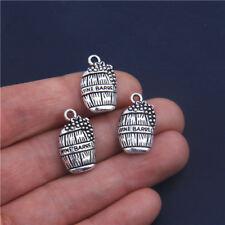 20Pcs Wine Barrel Charms Tibetan Silver Pendants 19mm