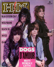 HM 83 1990 Dogs D'Amour White Lion Alice Cooper Blue Öyster Cult Death SS Icon