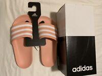 New Adidas Womens Adilette Aqua Shower Dust Pink Women's Size 8 With Box