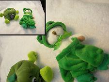 "Veggie Friends Seedies Belle Pepper Toy /  white bear in frog costume  5"" cute"