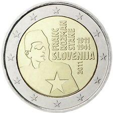 """2 €  Slowenien 2011  """" Franc Rozman""""  STG"""