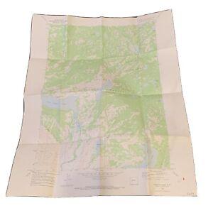"Vintage 1968 Dept. Of Interior Map - Fayetteville Lake Wyoming - 22"" x 27"" Topo"