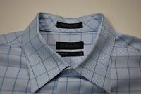 John W. Nordstrom Mens Dress Shirt Blue Egyptian Cotton Tailored Fit Size M O422