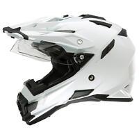 ONeal Sierra Helm Gr XS Weiß Motorrad Enduro MX Visier Sonnenblende Moto Cross