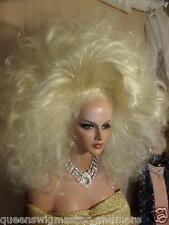 Drag Queen New Double Wig Light Blonde on Blonde Huge Teased Out Shoulder Length