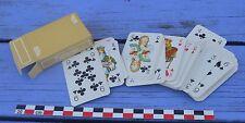 Petit jeu de 52 cartes compagnie aérienne UTA, étui sable, complet, vintage,