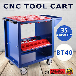 BT40 CNC Tool Trolley Cart Holders Toolscoot Heavy Duty Tooling Storage