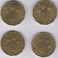 More details for mix of george vi nickel brass threepence coins | british coins | pennies2pounds