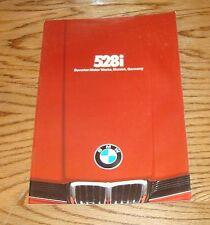 Original 1978 BMW 528i Sales Brochure 78