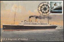 CANADA #2745.4 - EMPRESS of IRELAND, 100th ANN of her SINKING. MAXIMUM CARD #4
