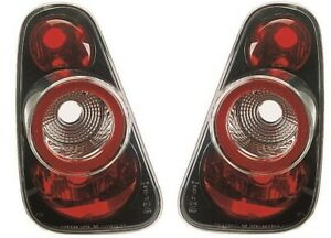 2001-2005 MINI ONE COOPER R50 R53 Crystal Tail Lights Rear Lamps BLACK