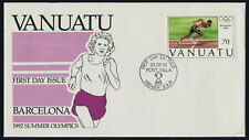 Vanuatu 571 on FDC - Barcelona Olympic Games, Athletics