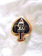 14K Gold Spade Skull Crossbones Alpha Gamma Phi Fraternity Pledge Pin Not Scrap