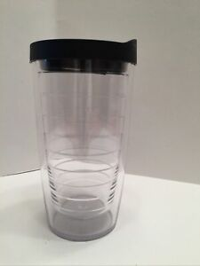 CLEAR TERVIS TUMBLER 16 OUNCE WITH BLACK SIPPY LID